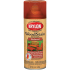 Krylon 12 Oz. Exterior Semi-Transparent Wood Stain Spray, Redwood Image 1