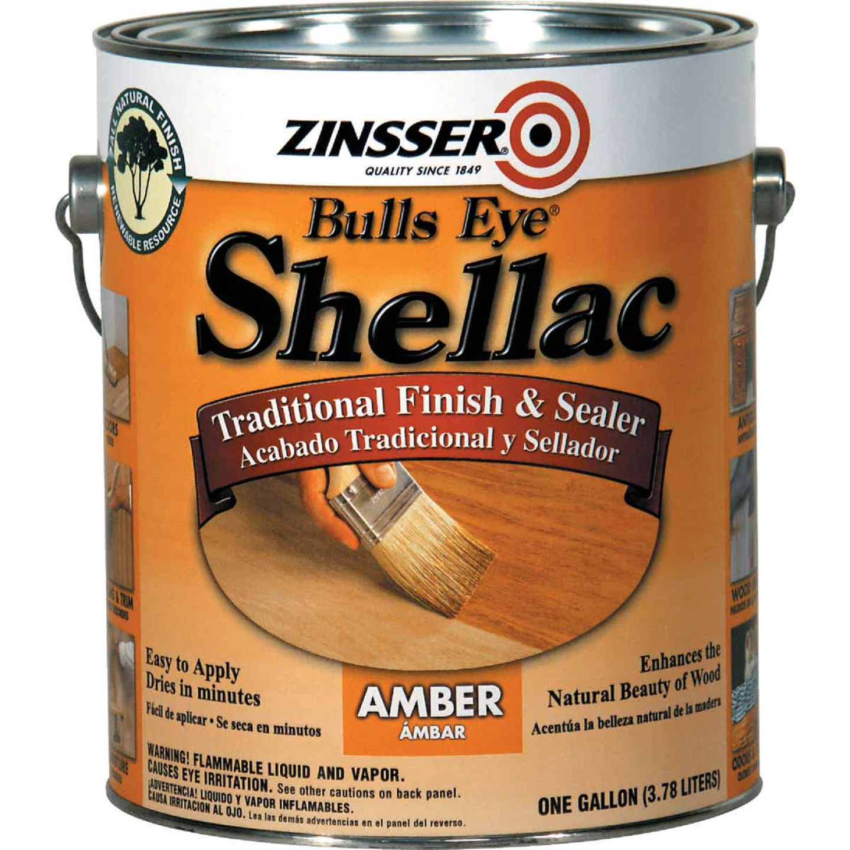 Zinsser Bulls Eye Amber Shellac, Gallon Image 1