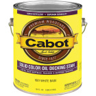 Cabot Solid Color Oil Deck Stain, White Base, 1 Gal. Image 1