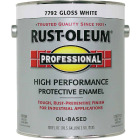 Rust-Oleum Gloss VOC for SCAQMD Professional Enamel, White, 1 Gal. Image 1
