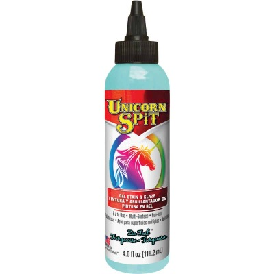 Unicorn Spit 4 Oz. Zia Teal Paint, Gel Stain & Glaze