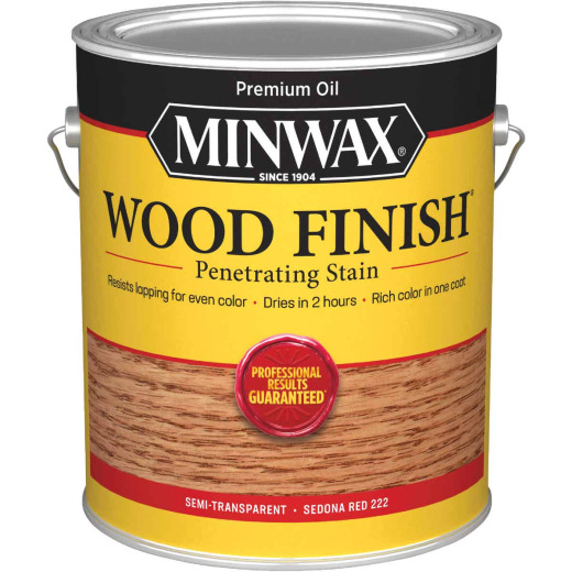 Minwax Wood Finish Penetrating Stain, Sedona Red, 1 Gal.