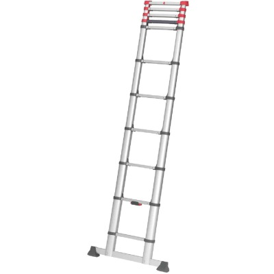 Hailo 12 Ft. 10 In. Aluminum 11-Rung Telescoping Ladder with 330 Lb. Load Capacity