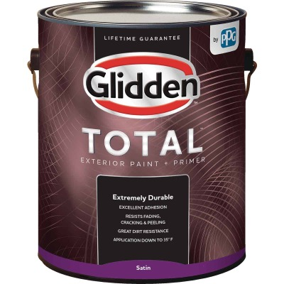 Glidden Total Exterior Paint + Primer Satin Ultra Deep Base 1 Gallon