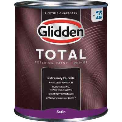 Glidden Total Exterior Paint + Primer Satin Midtone Base Quart