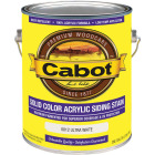 Cabot Solid Color Acrylic Siding Exterior Stain, Ultra White, 1 Gal. Image 1