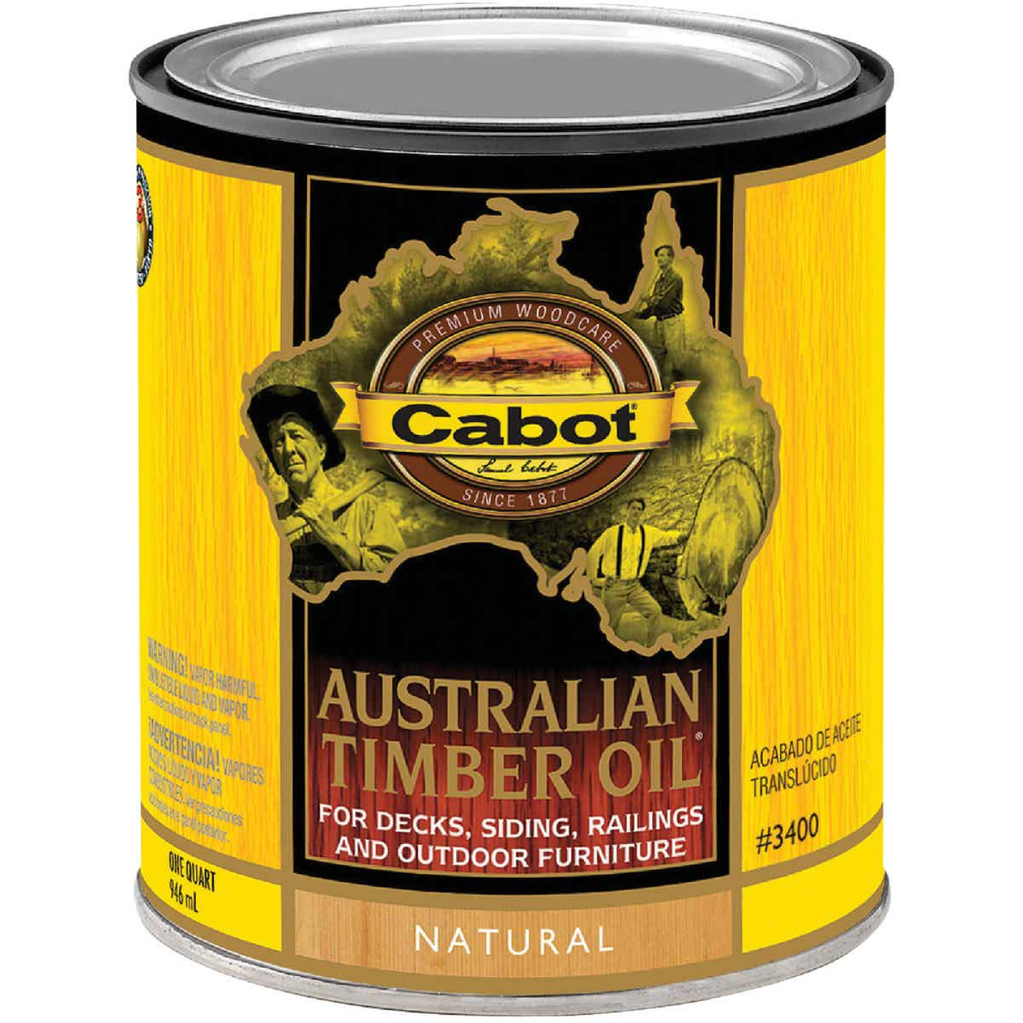Cabot Australian Timber Oil Translucent Exterior Oil Finish, Natural, 1 Qt. Image 1