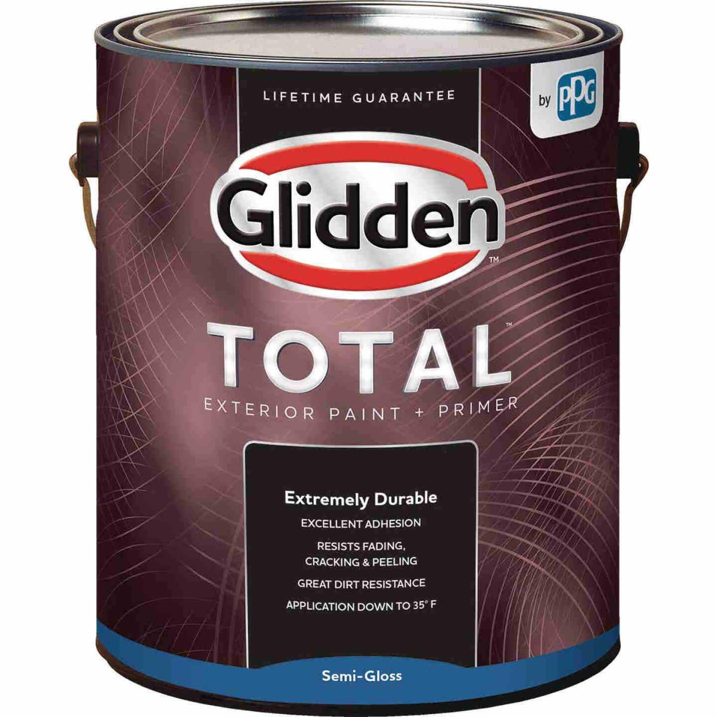 Glidden Total Exterior Paint + Primer Semi-Gloss Midtone Base 1 Gallon Image 1