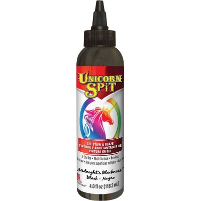 Unicorn Spit 4 Oz. Midnights Blackness Paint, Gel Stain & Glaze