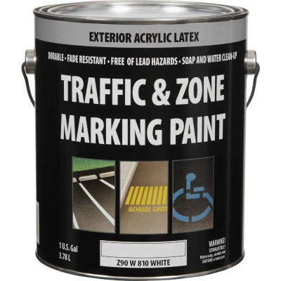 Traffic And Zone White Latex Gallon Traffic Paint