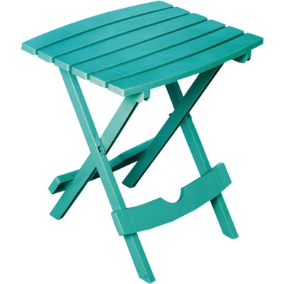 Adams Quik-Fold Teal 15 In. x 17.5 In. Rectangle Resin Folding Side Table