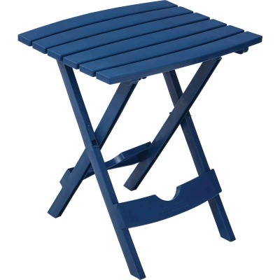 Adams Quik-Fold Patriotic Blue 15 In. x 17.5 In. Rectangle Resin Folding Side Table