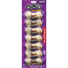 Dingo Meat Jerky Knotted Bone 2.5 In. Rawhide Chew, (7-Pack) Image 1