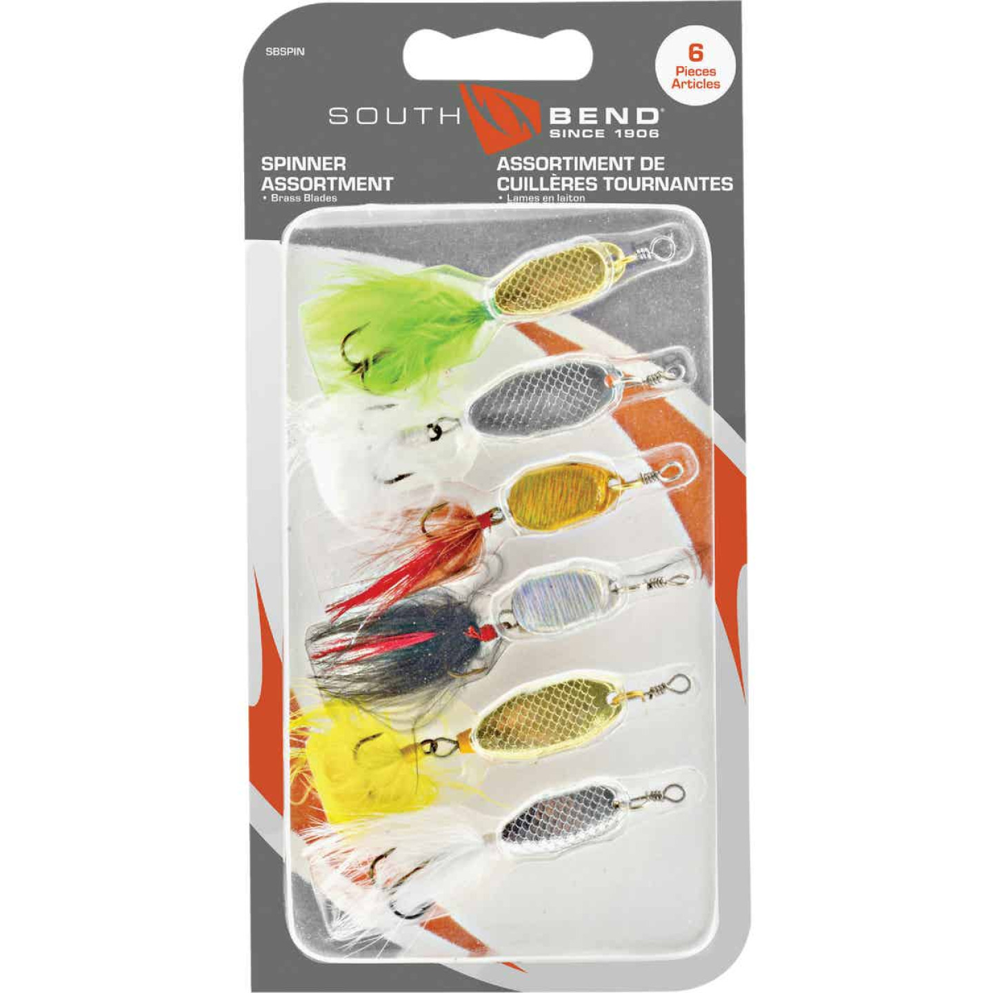 SouthBend 6-Piece Spinner Fishing Lure Kit Image 1