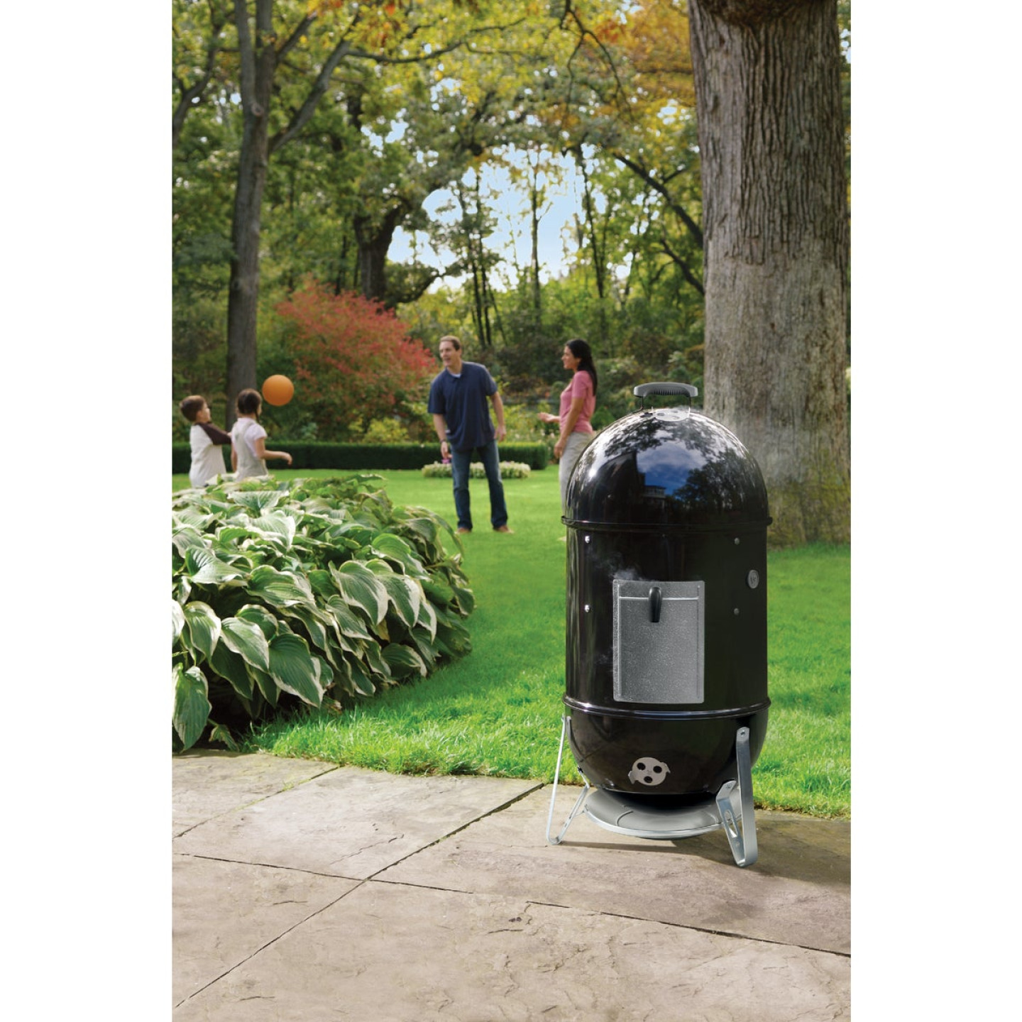 Weber Smokey Mountain Cooker 18 In. Dia. 481 Sq. In. Vertical Charcoal Smoker Image 4
