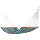 Castaway Duracord Blue & Green Striped Quilted Hammock Image 1