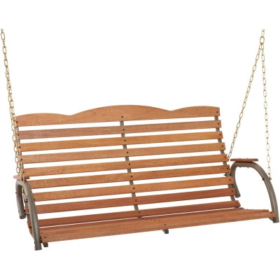 Jack Post Country Garden 4 Ft. Taupe Porch Swing with Chains
