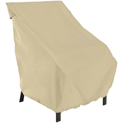 Classic Accessories 25 In. W. x 26 In. H. x 28.5 In. L. Tan Polyester/PVC Chair Cover