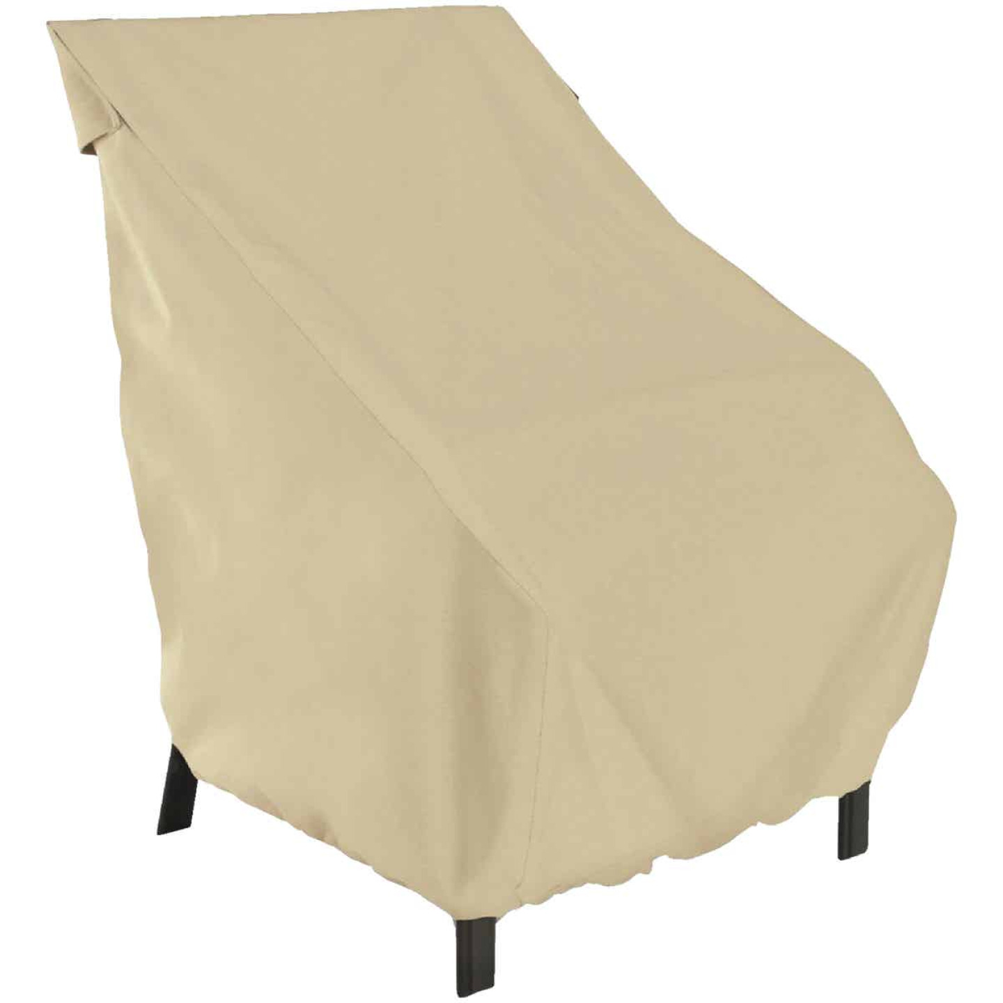 Classic Accessories 26 In. W. x 34 In. H. x 25 In. L. Tan Polyester/PVC Chair Cover Image 1