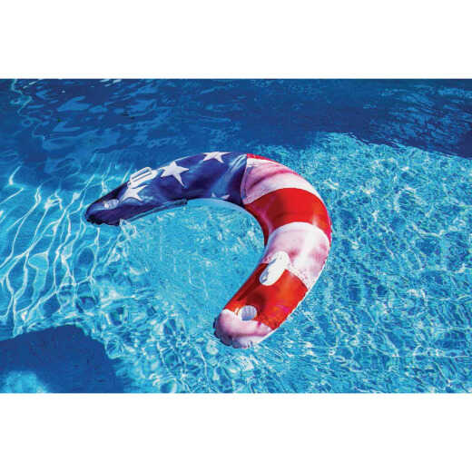 PoolCandy Stars & Stripes Ride-On Sun Chair Pool Float