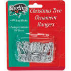 Sterling 1-3/8 In. Silver Christmas Ornament Hooks Image 1